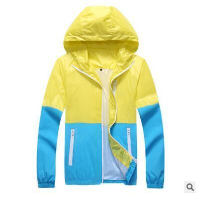 2016 Summer Fashion Mens Thin Windbreaker Jackets Wholesale Metrosexual Fashion Coat rash Guards Hooded Windbreaker Free Shipping