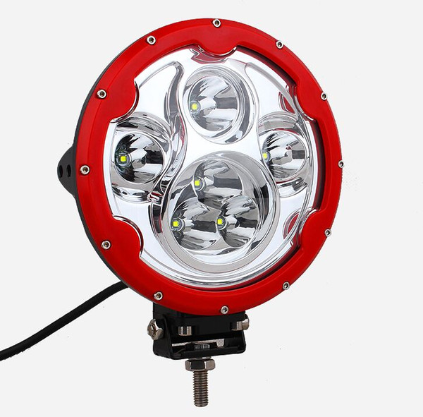 Free shipping 2pcs 7 inch Round 60W LED Spot Work Light CREE 10W x 6 LEDs 10-30V Spotlight Car 4WD SUV ATV Boat 4x4 Driving Headlight