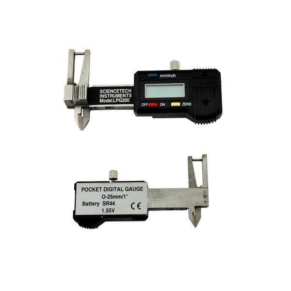 Calibrador digital de bolsillo al por mayor, 0-25 mm / 1 '' Calibrador digital con electrónica digital, Herramienta de joyería de medición de acero inoxidable, Alto