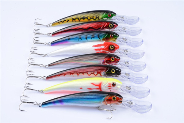 New Big Game Fishing Artificial Plastic Saltwater bass bait 16cm 28g 3D Eyes Minnow Laser Fishing lure