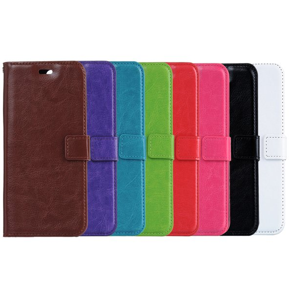 Wallet PU Leather Case Cover Pouch with Card Slot For iPhone For Samsung S4 S5 S6 note 3 4 S6 edge iphone 6 plus iPhone 7 7 Plus Free Ship