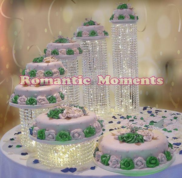 Acheter Livraison Gratuite Anniversaire Titulaires De Gateau Cristal Gateau Stand De Mariage Anniversaire Banquet Piece De Table Gateau Affichage De