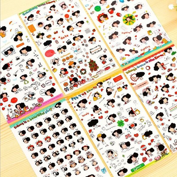 6sheets/pack ZAKKA Korea Cartoon Ddung's Dream series sticker/hot sell decoration sticker/school stationery supplies/wholesale , free shippi