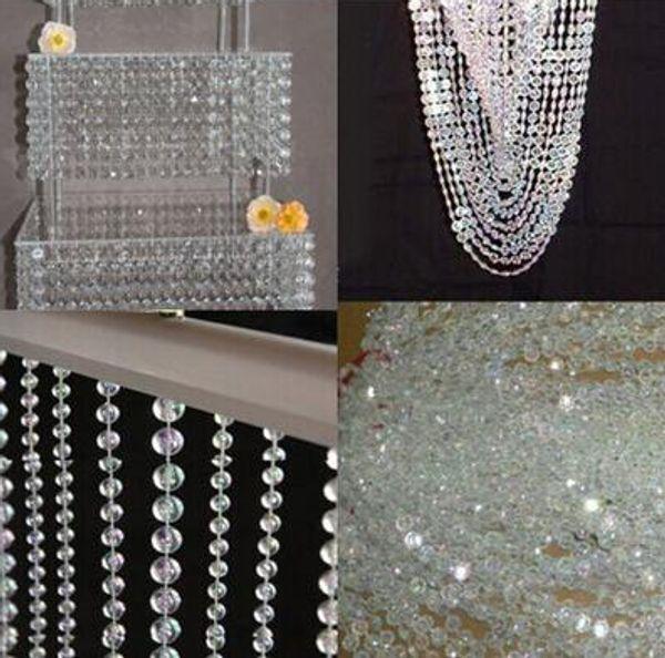 99FT/30M DIY Iridescent Garland Diamond Acrylic Crystal AB Beads Strand Shimmer Wedding Decoration