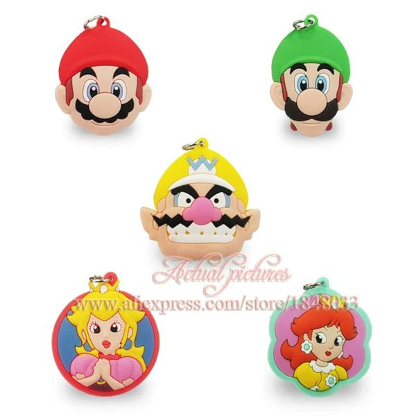 fa373481d8 Free Shipping 100pcs Super mario Cartoon PVC charms pendants fit for  keychain necklace cellphone kids party