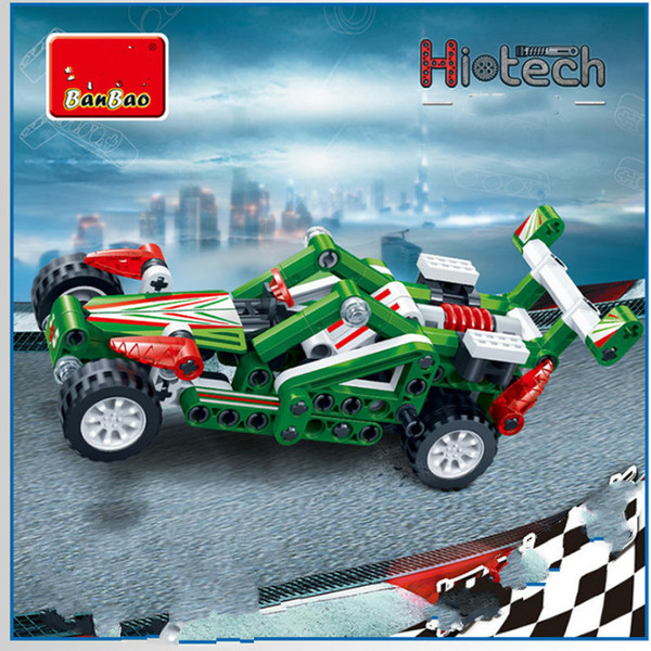 Warrior blocks car small particles of creative puzzle assembling building block toy model -6965