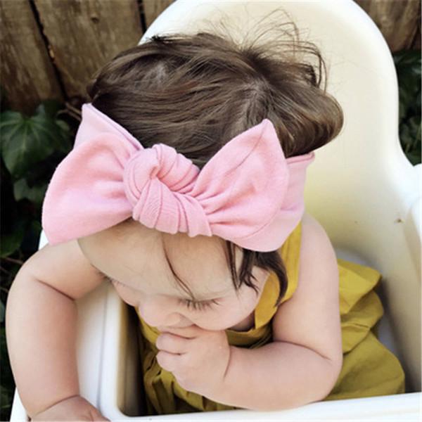 Christmas Kids Girls Cotton Hair Bows Semicircle Rabbit Ear 12 Color For Children Hair Accessories Hair Bands Infant 10 pcs/lot