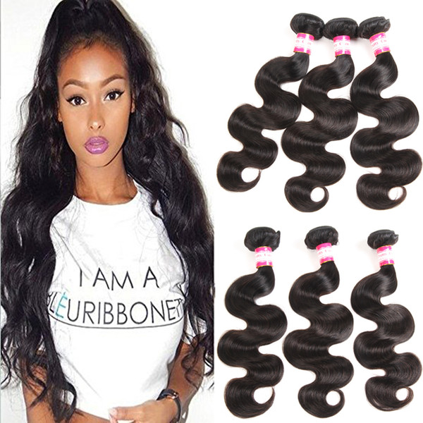 Brazilian Virgin Hair Body Wave 3 4 Bundles 100% Brazilian Remy Human Hair Weaves Wet Wavy Hair Bodywave Natural Color Light Dark Brown