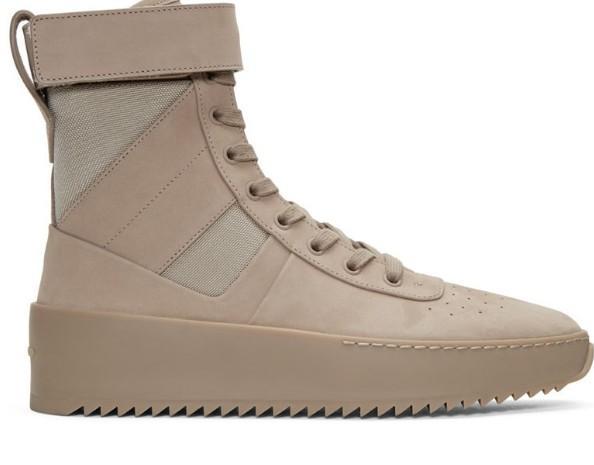 Camo fear of god boots