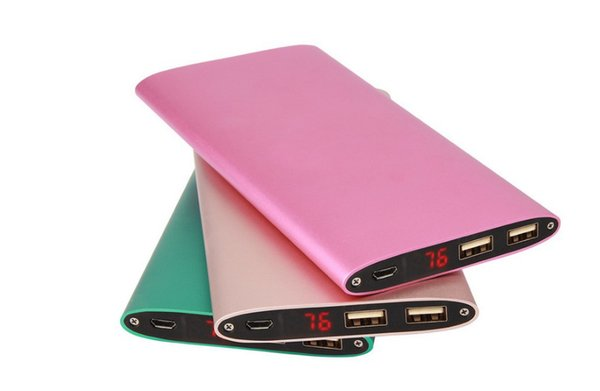 New hot Power Bank High Quality 10000mah 2 USB output Phone Backup battery Universal Charger for phone tablet PC Powerbanks (Custom LOGO)