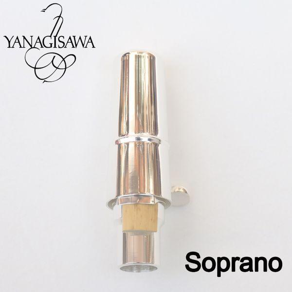 Brand New Yanagisawa Silver Metal Bocchino Alto Soprano Saxophone Bocchino professionale Sax Taglia 5 6 7 8 9
