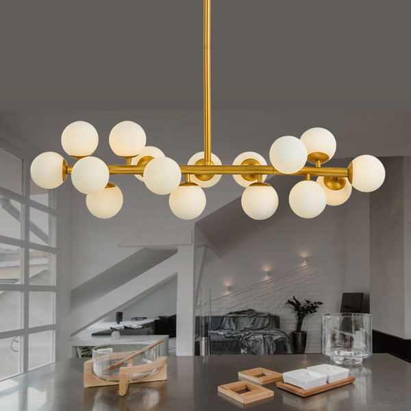 G4 Modo Gold Fixture Modern Led Bubble Chandelier Light Fitting 16led Lights Warm Globes Glass