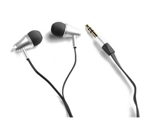 2pcs/lot Great Sound Awei ES300m Headset Earphones Speakers Metal Flat cable earphone for IPhone/IPOD/Android/htc/Samsung