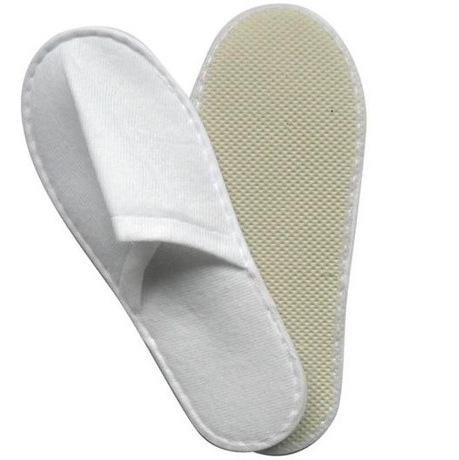 top popular 2017 New 50pairs one-time slippers disposable shoe home white sandals hotel babouche travel shoes free shipping 2019