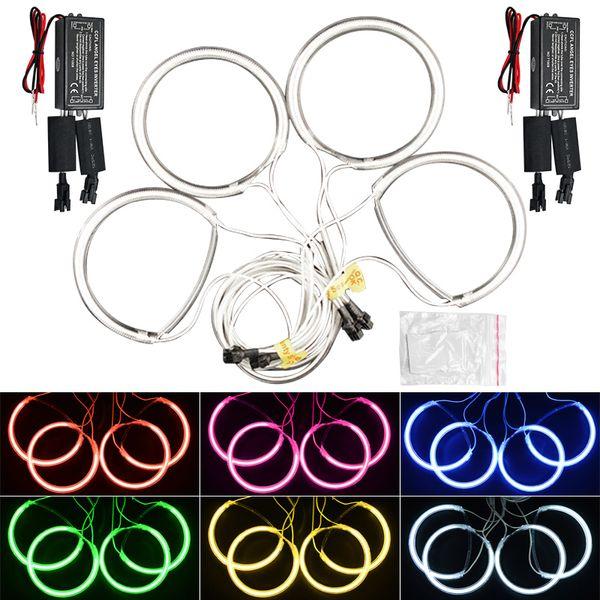 LEEWA 4pcs Car CCFL Angel Eyes Light Halo Rings Kits For Mazda 3 (2003-2009) Headlight DRL #4832