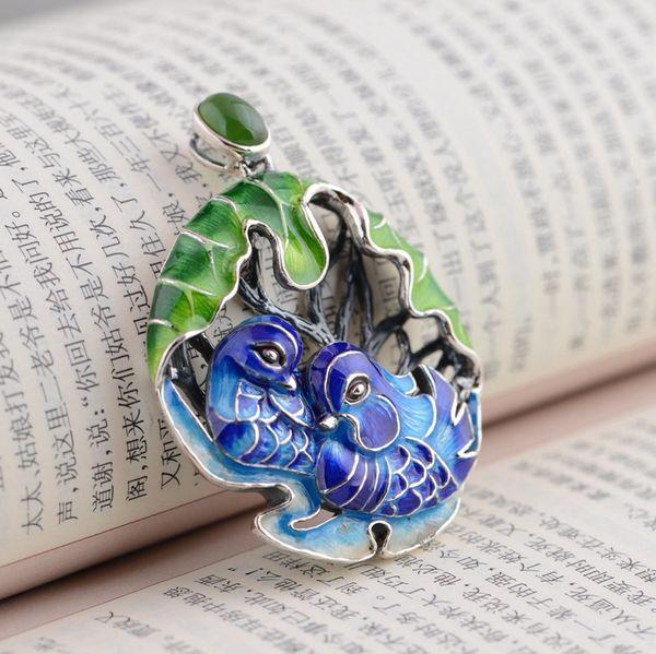S925 sterling silver pendant wholesale bluing exquisite unique gift duck shape