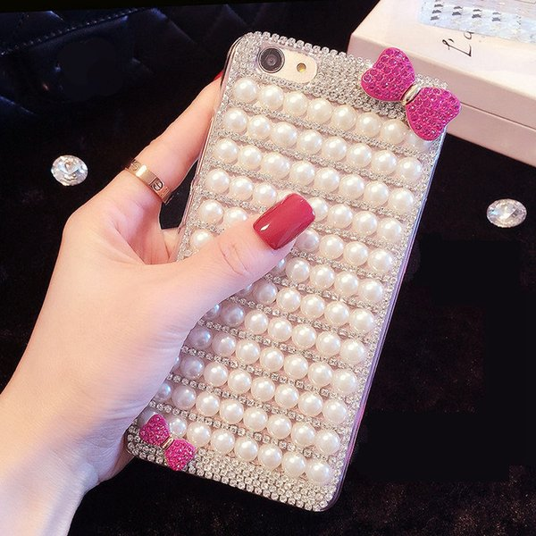 for Samsung Galaxy a3 a5 a7 j3 j5 j7 2016 2017 2018 ON5 ON7 Grand prime Cute luxury pearl glitter soft phone case cover