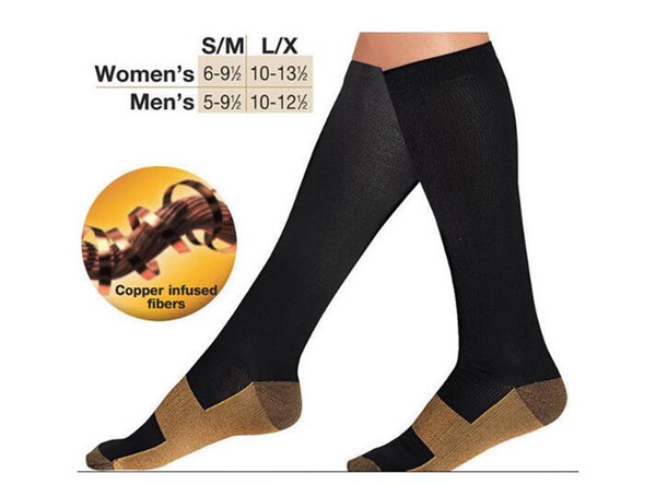 best selling Comfortable Relief Soft Miracle Copper Anti-Fatigue Compression Socks Tired Achy Unisex Women Men Anti Fatigue Magic socks A050