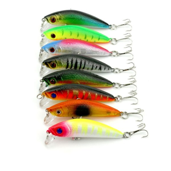 8PCS Bright Colorful Minnow Hard Bait 9cm 8g Lifelike Fishing Lures with Hook Diving Perch Wobbler Plastic Baits Fishing Tackle