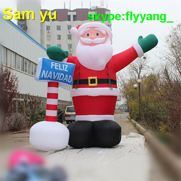 High quality Outdoor Inflatable Santa Claus for Beautiful Inflatable Western Christmas Decorations decorations