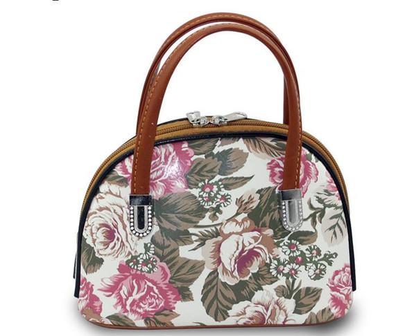 Retro print handbag, fashion styling shell bag, purse mom, mom grocery shopping bag, mini phone package, key hand carry small bags