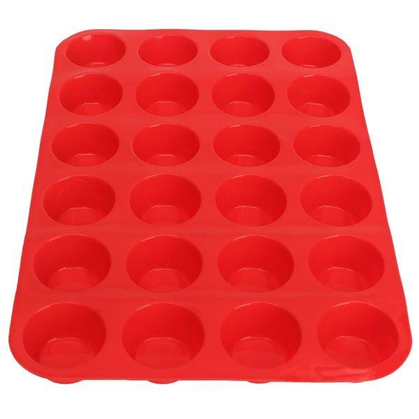 Toptan-Mini Muffin Kupası 24 Kavite Silikon Sabun Çerezler Cupcake Bakeware Pan Tepsi Kalıp Ev DIY Kek Aracı Kalıp