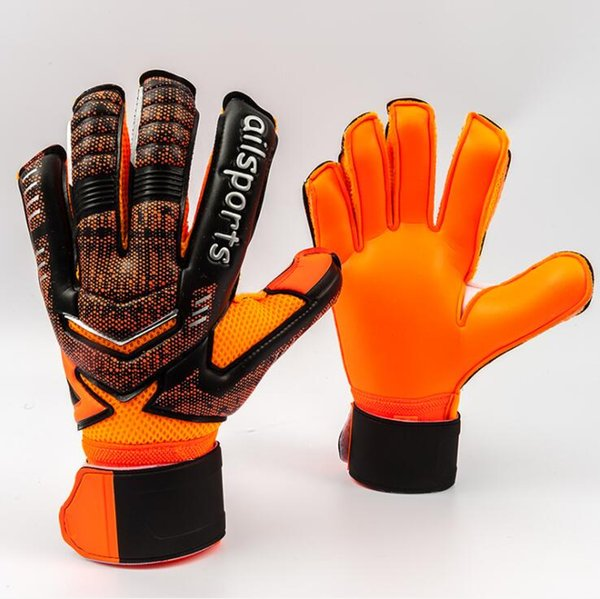 best selling Professional Thicken Breathable Non-slip latex Football Goalkeeper Gloves Goalie Soccer finger bone protection guard gloves free shipping