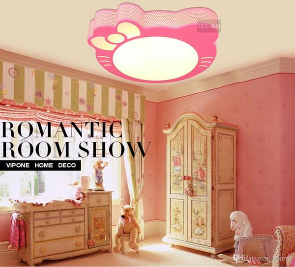 2019 Wholesale Girls Bedroom Lighting. LED Ceiling Cartoon Princess Room  Lighting. Kty Cat Cartoon Children Light Fixtures. From Ripple8, $266.34 |  ...