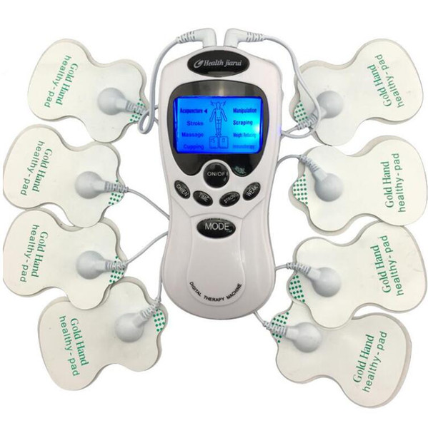 Body Healthy care Digital meridian therapy massager machine Slim Slimming Muscle Relax Fat Burner pain new 2*4 pads massage