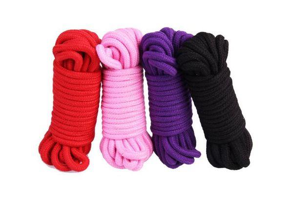 10m 33ft long thick cotton fetish sex restraint bondage rope body harness adult flirting game toys for couples women men