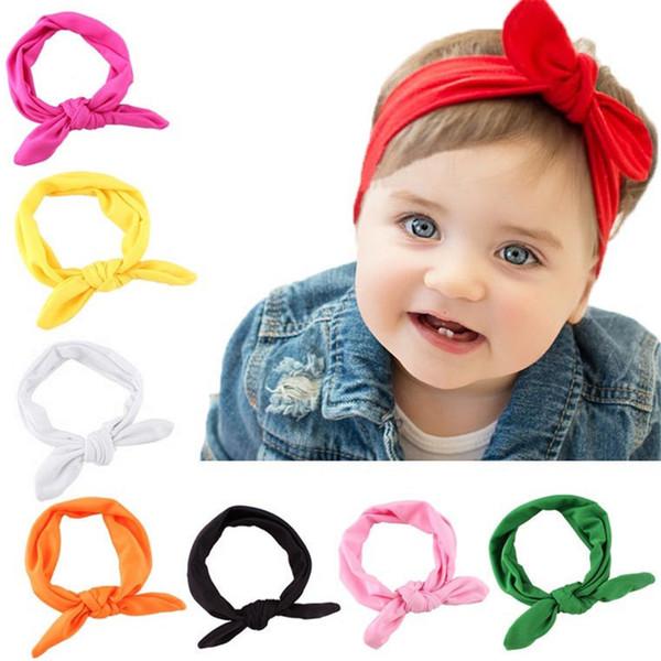 Al por mayor del oído CALIENTE Marca Moda Niños bebés arco hairband Turban nudo Wraps Cabeza