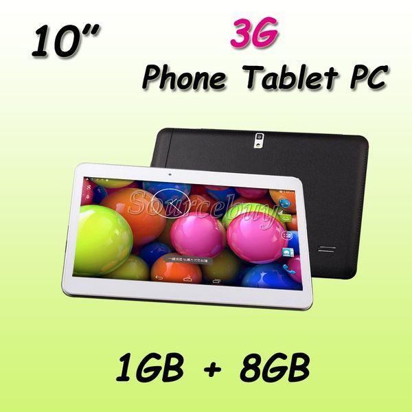 Phablet MTK6572 Dual Core 10 inch WCDMA 3G Unlocked Android 4.4 Dual SIM 1GB 8GB WIFI GPS Bluetooth Phone Call Tablet PC