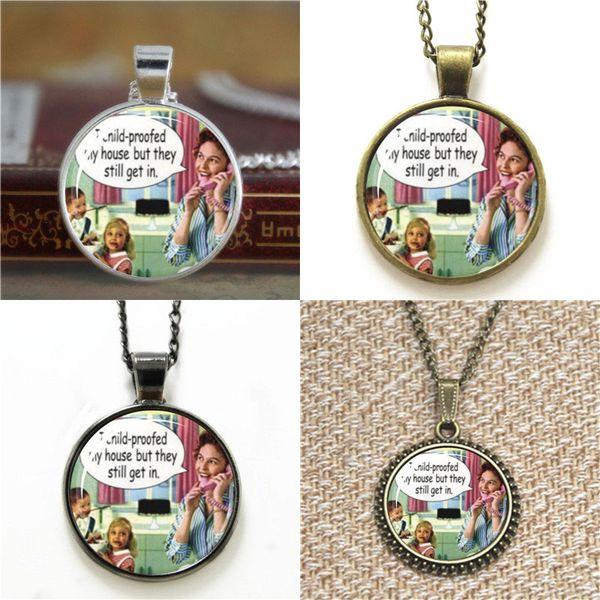 10pcs Kind-Beweis-lustiges Retro Kunst-Anhängerbild Anhänger-Halskettenschlüsselringbookmark Manschettenknopfohrringarmband