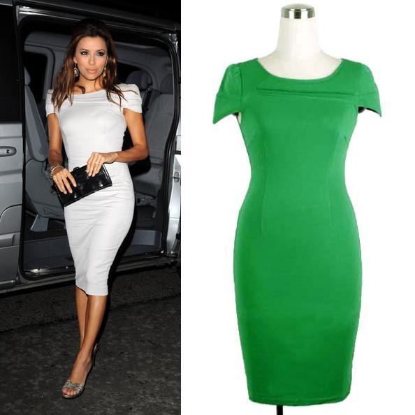 Le donne europee estive del 2017 vestono lo stesso stile di Kim Kardashian Business OL Slim Fitting Dress Elegante che basa il vestito a matita