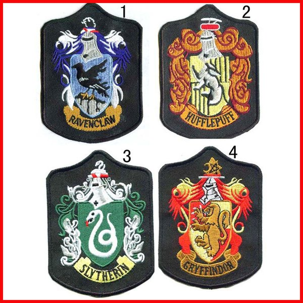 Harry Potter Badge Embroidery Badges Hogwarts Crest Gryffindor Slytherin Ravenclaw Hufflepuff Patches Gift