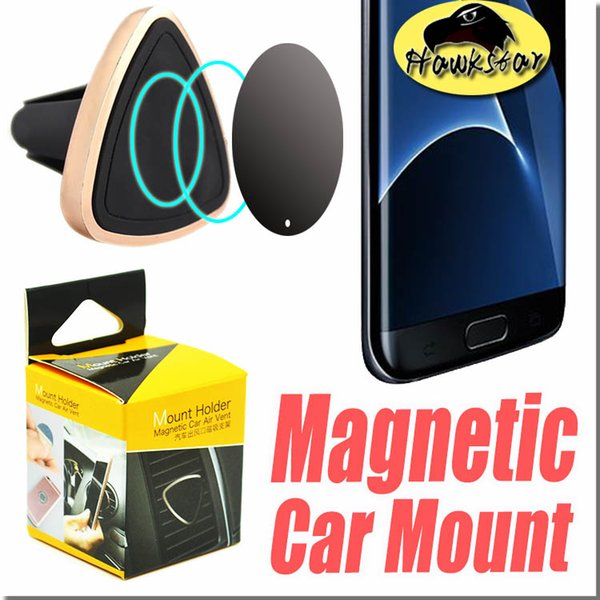 Car Mount Air Vent Magnetic Universal Car Mount Phone Holder for iPhone 6/6s, One Step Mounting Reinforced Magnet Easier Safer Driving