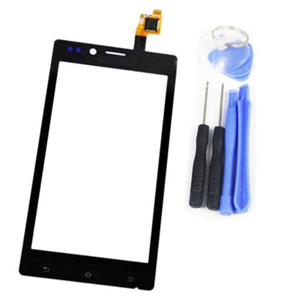 Touch Screen Digitizer For Sony Xperia J ST26i ST26 ST26a Front Touch Glass Lens Panel With Sensor Replacement Black + Tools Set
