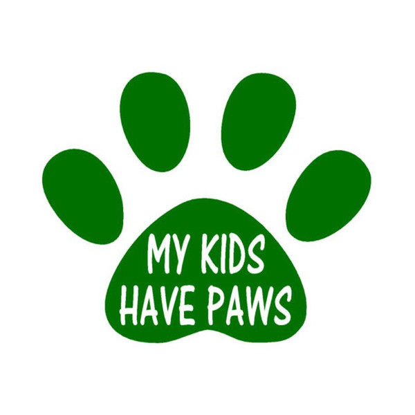 Wholesale 20pcs/lot Automobile Motorcycle Vinyl Decal Car Glass window Windshield Bumper Door SUV Auto Stickers Jdm Animal My Kids Have Paws