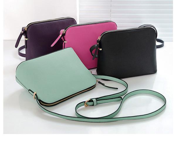 Diseñador de la marca Mujeres Crossbody Shoulder Bag Crossbody Shell Bags Monederos Messenger Bag 4 colores
