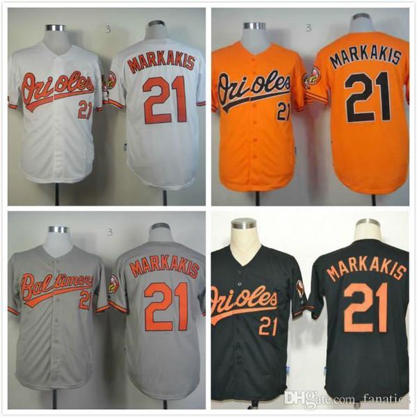 a72ab41d8 2017 New 21 Nick Markakis Shirt Mens Baltimore Orioles jersey  ColorOrangegrey .
