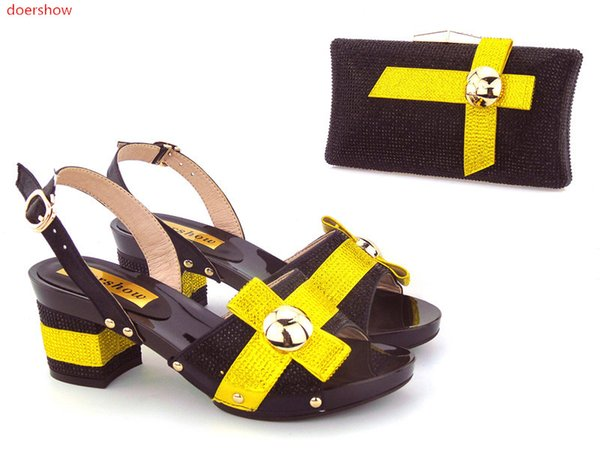 New Arrival Italian Shoes With Matching Bags Latest Design Elegant Women's Shoes and Bag Set Free Shipping! ZO1-24