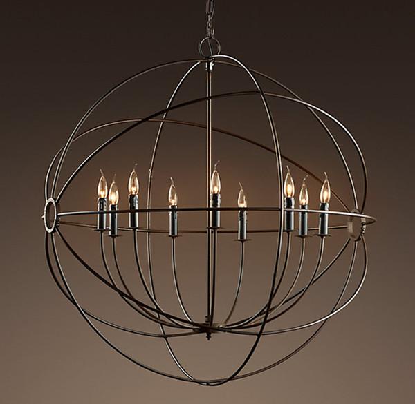 Focaults Orb Pendant Lamp Restoration Hardware Vintage Hanging Lamp Suspension Light For Living Room Dinning Room Home Decor