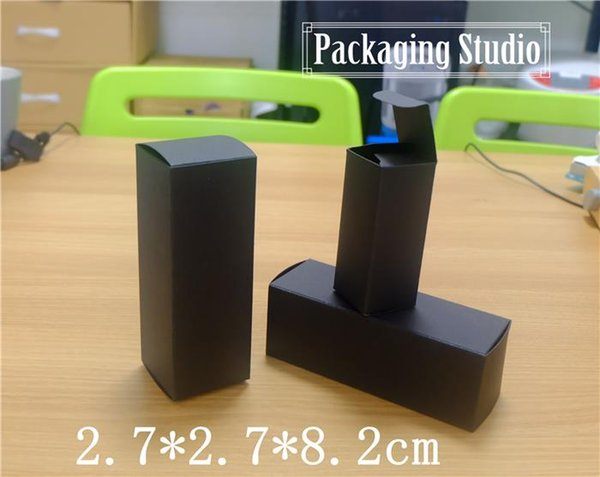 200pcs Cosmetic Perfume Lipstick Package Boxes Gift Packaging Black Paper Boxes Free shipping