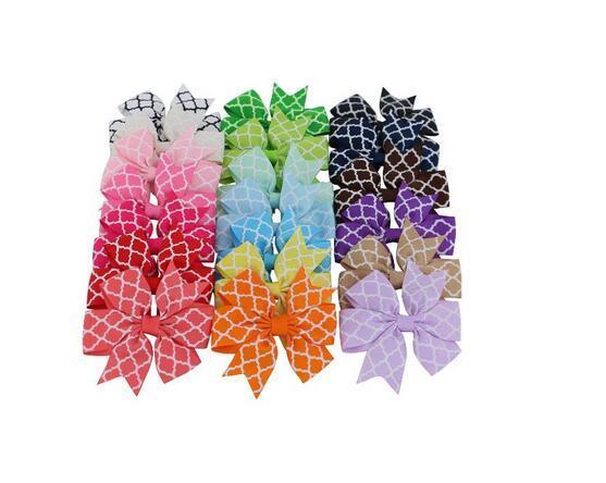 15% off! New 80pcs/ 3 Inch Boutique Grosgrain Ribbon Hair Bow Baby Girl Hair clip Kids Hairpin Headband hairband barrettes Hair Accessories