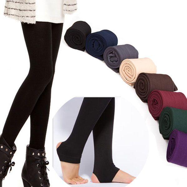 Großhandels- Großhandelsqualitätsfrauen-Herbst-Winter DICK warme Legging gebürstete Futter-Stretch-Fleece-Hosen Trample Feet Leggings