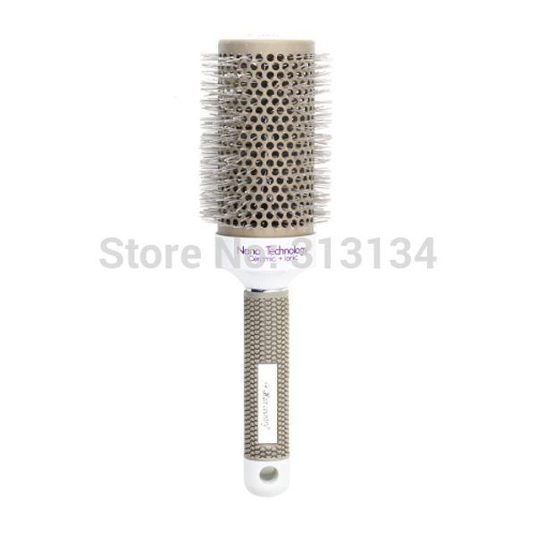 Gros-53mm Nouveau 1pc en céramique peigne rond ionique Barber Hair Dressing Salon Styling Outils brosses Hairbrush NO1