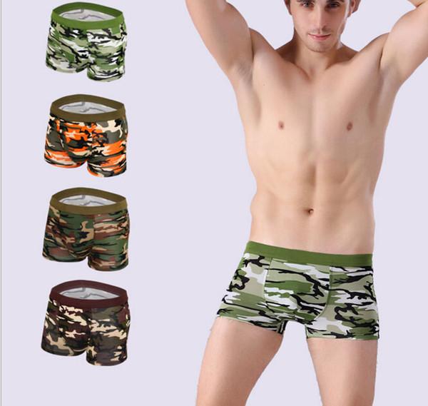 2016 Camouflage factory men underwear uomo underwear gay sex boxer Underpants