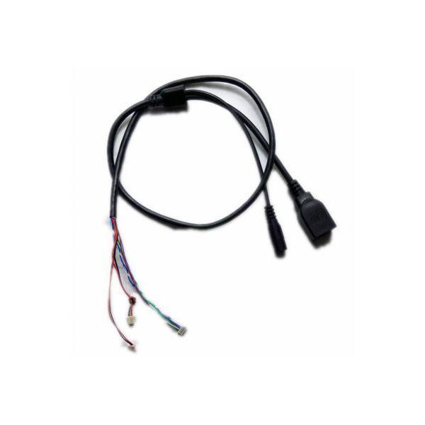2017 Yüksek Kalite 2 Renk CCTV IP Güvenlik Kamera Modülü Circut Kurulu PCB Kablo Hatları, Ağ RJ45 DC 12 V Güç Portu Konektörü