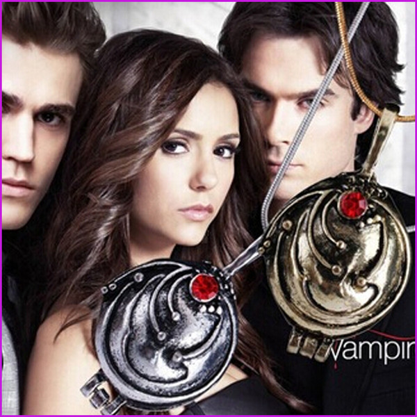 NEW - The Vampire Diaries necklace Elena Gilbert vintage vervain verbena pendant Necklaces jewelry for women wholesale