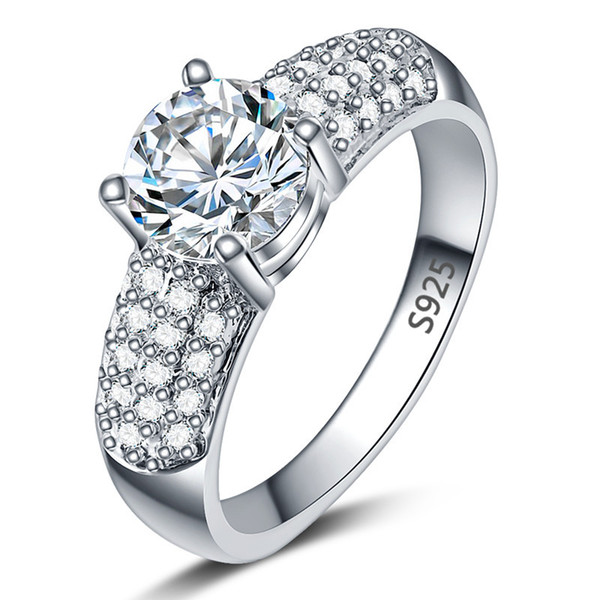 Europe and America hot explosion ring, female micro set zircon lovers ring